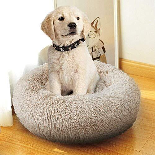 Hondenbed rond pluche huisdier puppy puppy kat rond winter warm slaapzak, draagbaar kussen, kattenbenodigdheden, gewrichtsontlasting en slaapverbetering, 60 cm, 120 cm