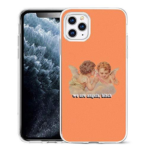 APHT Funda para teléfono Angels Cute Pattern Design Funda de Gel de Silicona Suave TPU para Apple iPhone 5-11 Pro MAX