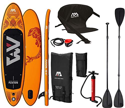 AM Aqua Marina Fusion SUP Board Stand Up Paddle aufblasbar KAJAK Sitz 2in1 Paddel