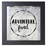 adventure fund shadow box piggy bank with slot at top