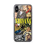 Compatible with iPhone XR Case Nirvana Rock Band Kurt Photos Pure Clear Phone Cases Cover
