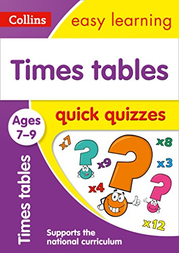 Times Tables Quick Quizzes Ages 7-9: Prepare for school with easy home learning (Collins Easy Learning KS2)