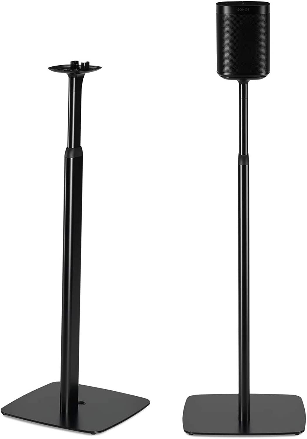 Flexson Adjustable Floor Stands for Sonos One and Sonos Play  1 (Pair, Black)