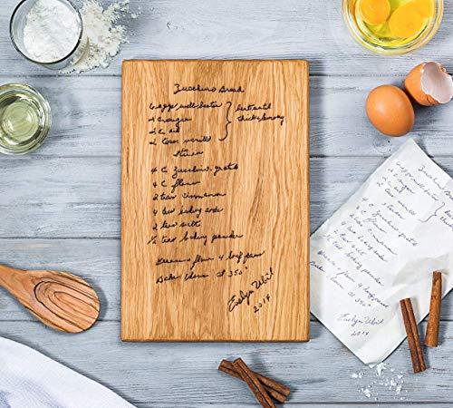 Recipe Cutting Board, Handwritten Recipe Cutting Board,Personalized Recipe Cutting Board,Family Recipe, Engraved Recipe, Family grandmother Gift Engraved