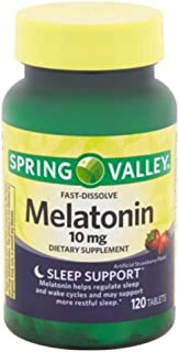 Spring Valley Fast-Dissolve Melatonin, 10 Mg, 120 Tablets by Spring Valley