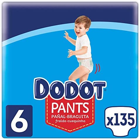 Dodot Baby Nappies Pants Size 5 (12 – 17 kg), 150 Nappies, Panties with 360° Adjustment, Anti-Leak