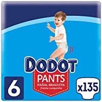 Dodot Pants Pañal - Braguita Talla 6, 135 Pañales, 15 kg +, Pañal - Braguita Con Ajuste 360° Anti - fugas