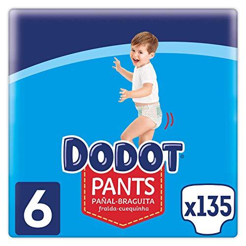Dodot Pants Pañal - Braguita Talla 6, 135 Pañales, 15 kg