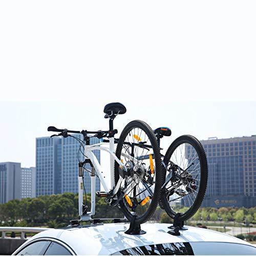 LJ-BICYCLE RACK Portabicicletas de Coche Ventosa portaequipajes de Techo La adsorción portabicicletas Coche Tras la Cola del Coche Marco Colgante White-3 Bike Version