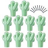 Yavso Pomos y Tiradores Infantiles, 10 Piezas Cactus Pomos Ceramica Tiradores de Muebles para...