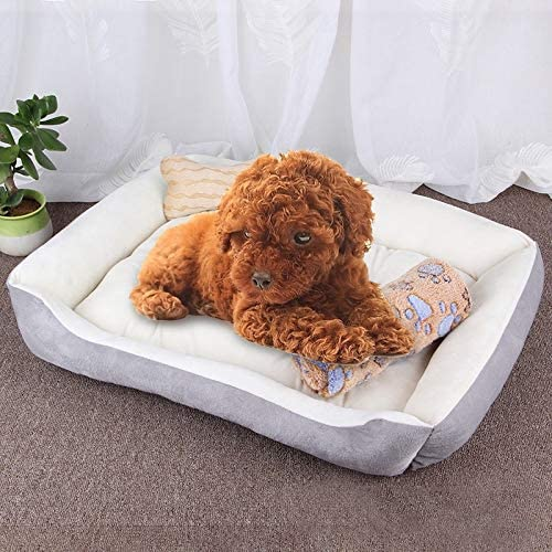 CHENZHIQIANG Pet Beds Great Dog Bone Cash special price Warm Kenne Pattern NEW before selling Soft Big