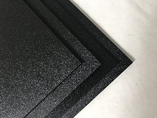 """ABS Black Plastic Sheet 1/4"""" x 24"""" x 48"""" Textured 1 Side Vacuum Forming (Pack of 4)"""