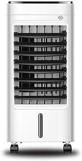 Qi Kang Evaporativo Portátil, Refrigeración 3 en 1 Portatil Climatizador 1-7.5h Temporizadores Aire Acondicionado Ventilador de Pie (5L) con 3 Velocidades-001 Estilo de Control Remoto
