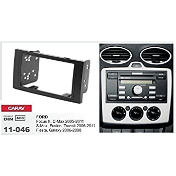 FORD C MAX 2003 to 2010 BLACK DOUBLE DIN FASCIA FITTING KIT SQUARE ONE RADIO