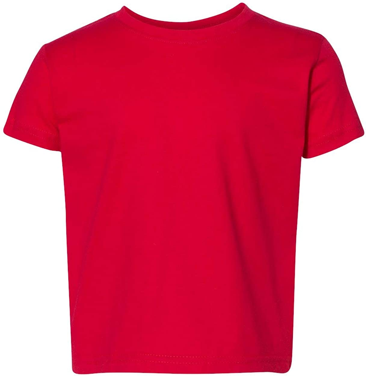 Next Level Baby Boy's Cotton Tear-Away Label T-Shirt, RED, 4T