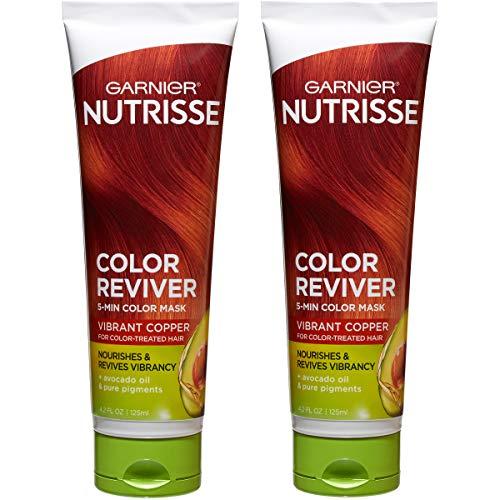 Garnier Nutrisse Color Reviver 5 Minute Nourishing Color Hair Mask, Vibrant Copper, 4.2 fl. oz. (Pack of 2)