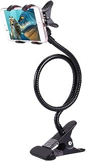 DFV mobile - フレキシブルメタルロングアームレイジーブラケットホルダー電話クランプ&デスククリップ付き。 多機能:デスクトップ、ベッドヘッドボード、車、ソファー。 にとって for HUAWEI HONOR 8A (2019) - 黒