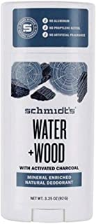 Schmidts Natural Deodorant Water Woods Activated Charcoal 3.25 Ounce