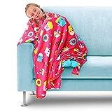 GirlZone Regalos para Niñas - Manta de Polar Rosa para Niñas Plaid Cobertor...