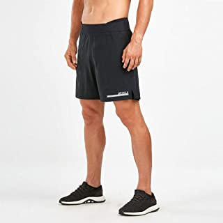 "2XU Run 2 in 1 Compression 7"" Shorts for Men Black/Silver"