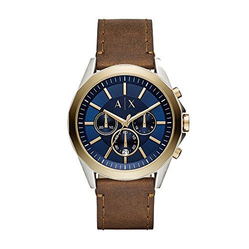 Armani Exchange Reloj Cronógrafo para Hombre de Cuarzo con Correa en Cuero AX2612