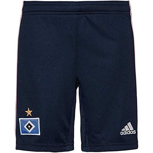 adidas Jungen HSV A SHO Y Kurze Hose, Maruni/Rosa/weiß, 140 (9/10 años)