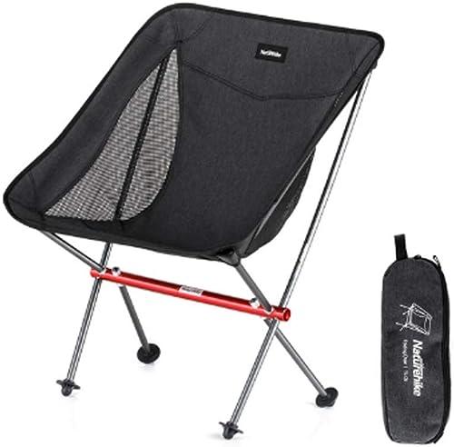 Daily Necessities Chaise Pliante extérieure, Chaise d'extérieur portative Occasionnelle Ultra-légère en Alliage d'aluminium 600D cationique, Chaise de Lune de Camping pour la randonnée en Plage