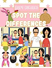 Bobs Burgers Spot The Difference: Stress Relieving Activity How Many Differences Books For Kid And Adult
