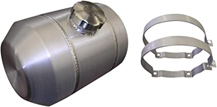 small round aluminum fuel tanks