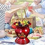 kekison 1960s Chinese Traditional Fruit Basket Obstkörbe Antique Enamel Bowl Küche Deko Esstisch Dekoration Doppellagiger Wärmeisolierung Ice Bucket Korb Rack Display Stand - 2