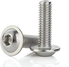 M5-0.8 x 20mm Flanged Button Head Socket Cap Screws, Stainless Steel A2-70, Full Thread, Allen Socket Drive, Quantity 50