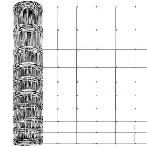 Amagabeli 50 m L10/120/15 Wire Stock Fäktning Varmdoppat galvaniserat nät 1,9 mm tråd diameter trädgård gård häcket gräns staket boskap staket för gris får rådjur ko häst HC07