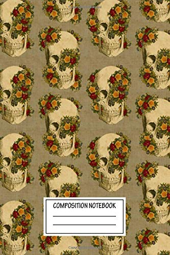 Composition Notebook: Floral Love Overgrown Mixed Media Wide Ruled Note Book, Diary, Planner, Journal for Writing