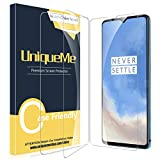 [2 Pack] UniqueMe Compatible Screen Protector for OnePlus 7T Tempered Glass, HD Clear Anti-Scratch Screen Protector with Lifetime Replacement Warranty