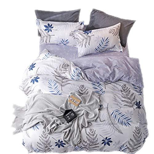 3pcs Cartoon Printed Purple Flower Bedding for Boys Girls Reversible Hidden Zipper Kid Duvet Cover...