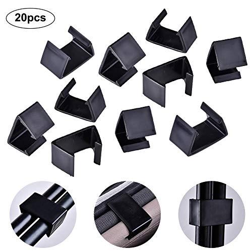 SmallPocket 20 Stück Gartenmöbel Verbinder klemmbefestigungen für Rattan-möbel Anschlussclips für Lounge Set Clips Klammern für Gartenmöbelset aus Polyrattan