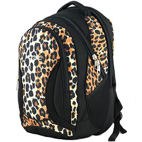 YeepSport Schul Rucksack Ranzen Mädchen Junge Sport Tasche 40 Liter groß leicht stabil 30085 Leopard