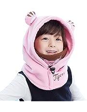 TRIWONDER Pasamontaña Niño Invierno con Máscara Térmica Polar Sombrero con Cuello Calentador para Esquí Ciclismo Caza Escalada al Aire Libre