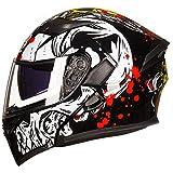 ZHEN Casco de Bicicleta de Calle Unisex para Adultos - Casco de Motocross con Visor Doble antirreflejo - Casco de Motocicleta abatible Aprobado por ECE para Motos de Nieve Off Road Hombres y muje