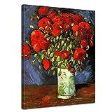 Wandbild Vincent Van Gogh Vase mit roten Mohnblumen -
