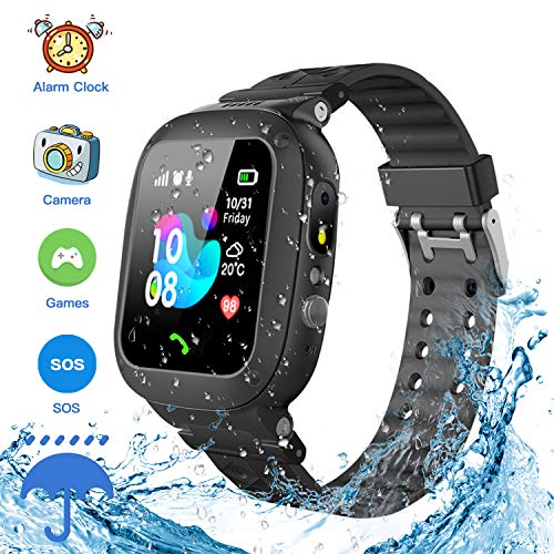 Jsbaby Kids Smartwatch Waterproof GPS/LBS Tracker Phone Compatible iOS Android for Children 3-12...