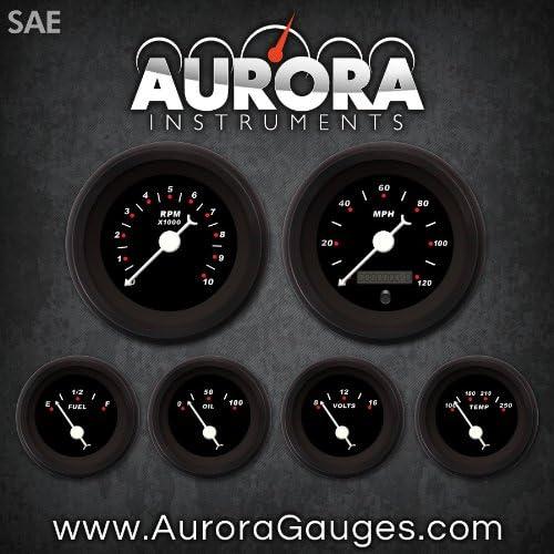 Aurora Instruments 1020 Modern Rodder SAE 6-Gauge Whi Brand new Inventory cleanup selling sale Black Set