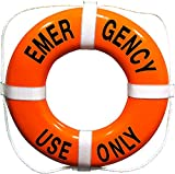 Emergency Use Only Printed on 24 Inch Orange Ring Buoy