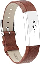 POY Replacement Bands Compatible for Fitbit Alta and Fitbit Alta HR, Genuine Leather Wristbands