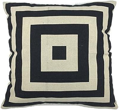 Amazon.com: Ottery manta de algodón de lino, cuadrado funda ...
