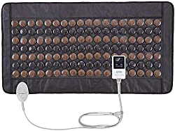 """UTK Far Infrared Tourmaline Heating Pad for Full Back Pain Relief - Infrared Therapy Heating Pads - Medium T-Plus (38"""" X 21""""), Auto Shut Off and Travel Bag Included"""