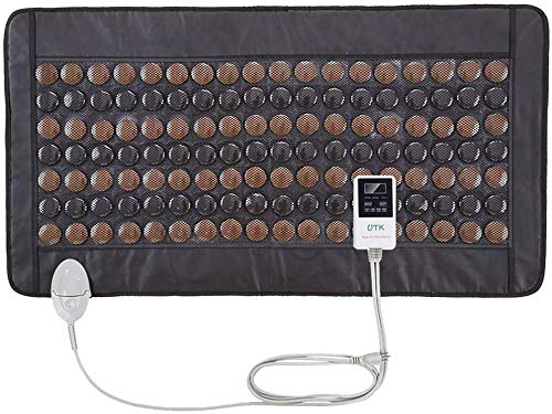 "UTK Far Infrared Tourmaline Heating Pad for Full Back Pain Relief - Infrared Therapy Heating Pads - Medium T-Plus (38"" X 21""), Auto Shut Off and Travel Bag Included"
