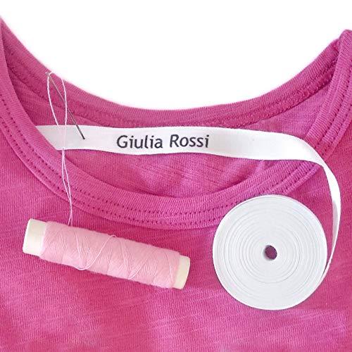 Haberdashery Online 36 Etichette da Cucire per Vestiti Ettichete Personalizzate con Il Nome per Grembiuli, Bavaglini, Abbigliamento. Ideale per Appendere i Cappotti.