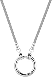 Eyeglass Necklace Holder Ring Gl Holder Strap Chain Nylon Milan Rope Silver Alloy Loop Sungl Anti-Lost Cord