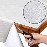 Home Bargains Plus Quilted Heavy Duty Table Pad Protector with Flannel Backing - Cut to Fit - 60' Wide x 120' Long